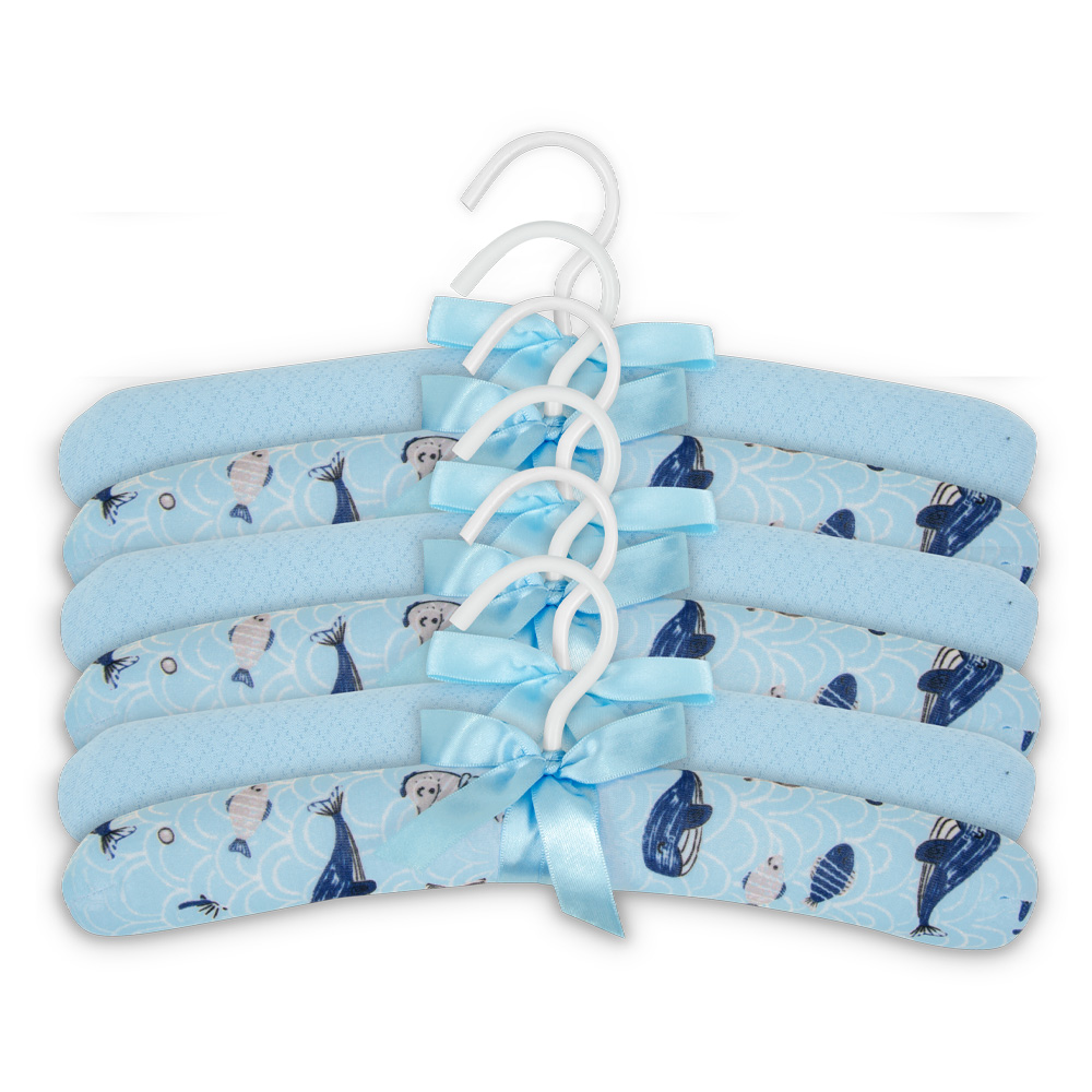 Kit Com 6 Cabides Fundo Do Mar Azul - Hug