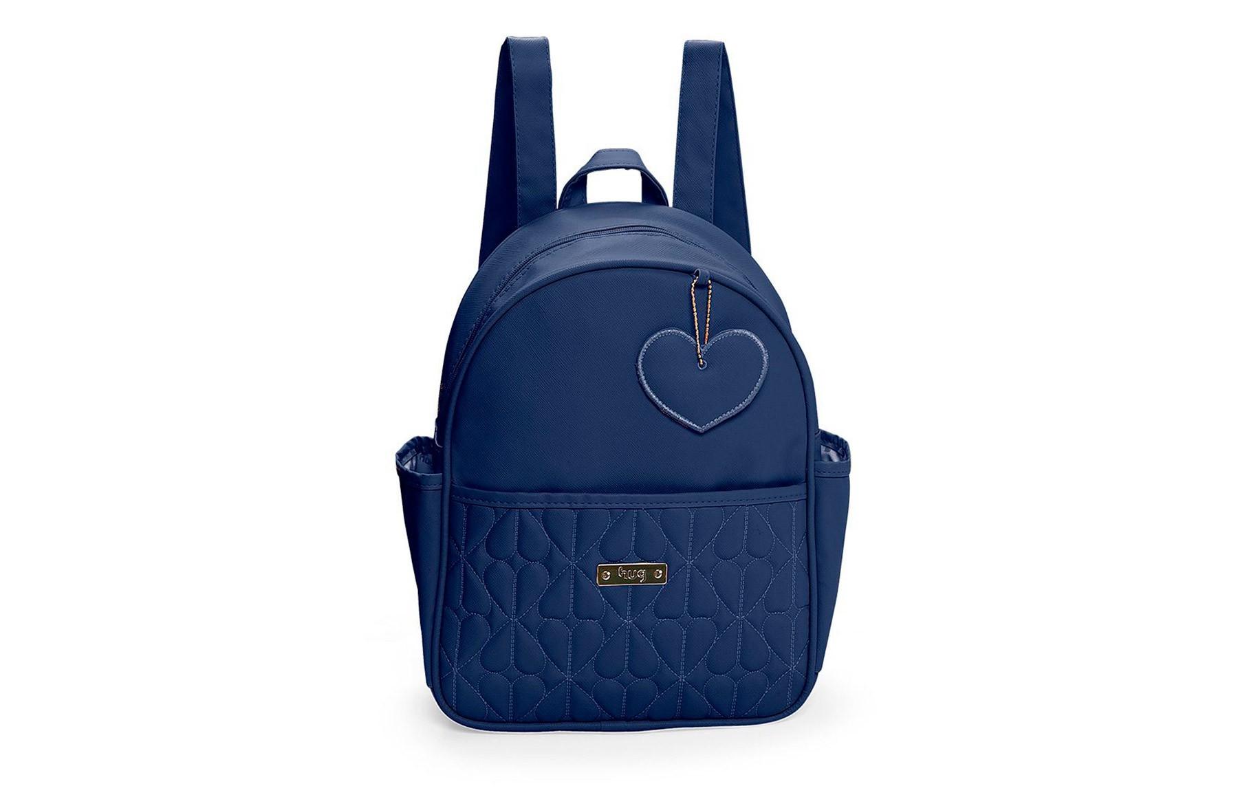 Kit de bolsas 2 peças linha Curaçau cor azul marinho