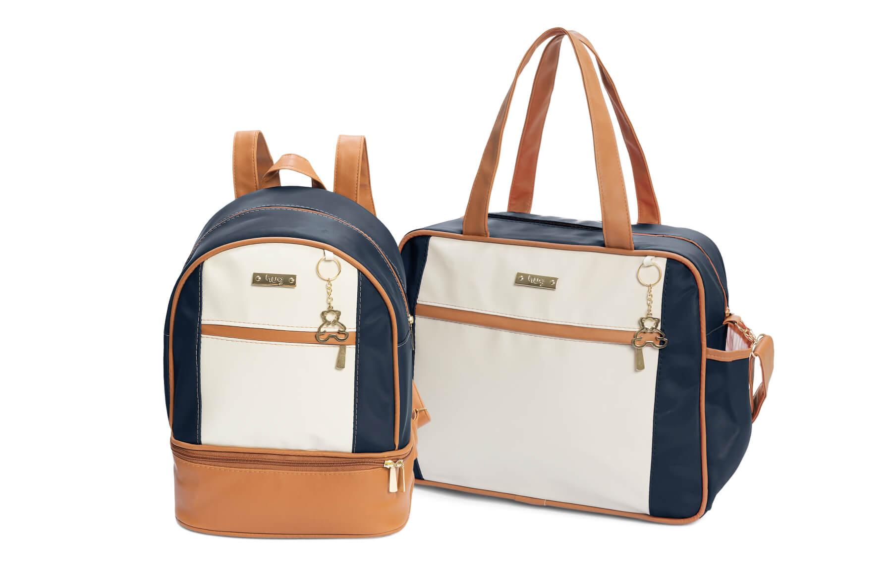 Kit de bolsas 2 peças linha Dublin cor azul marinho