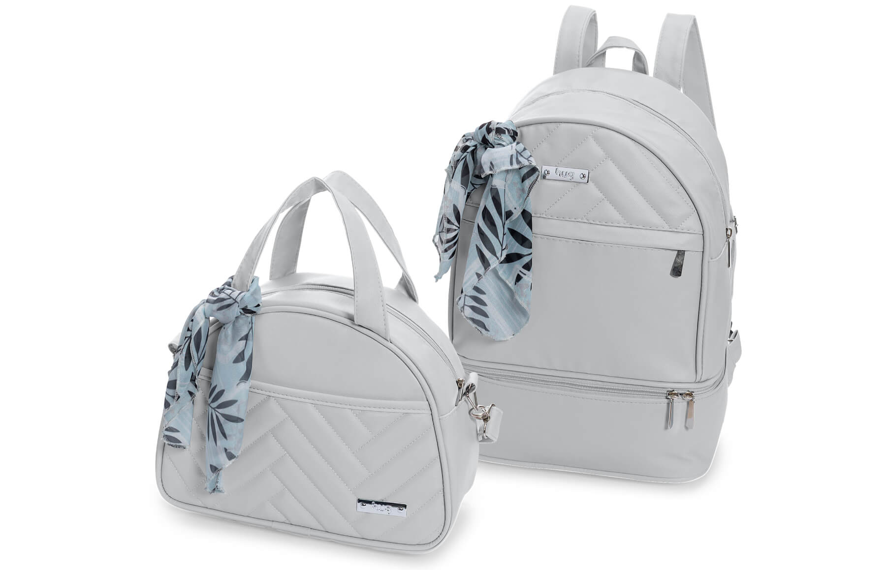 Kit de bolsas 2 peças linha Munique cor cinza