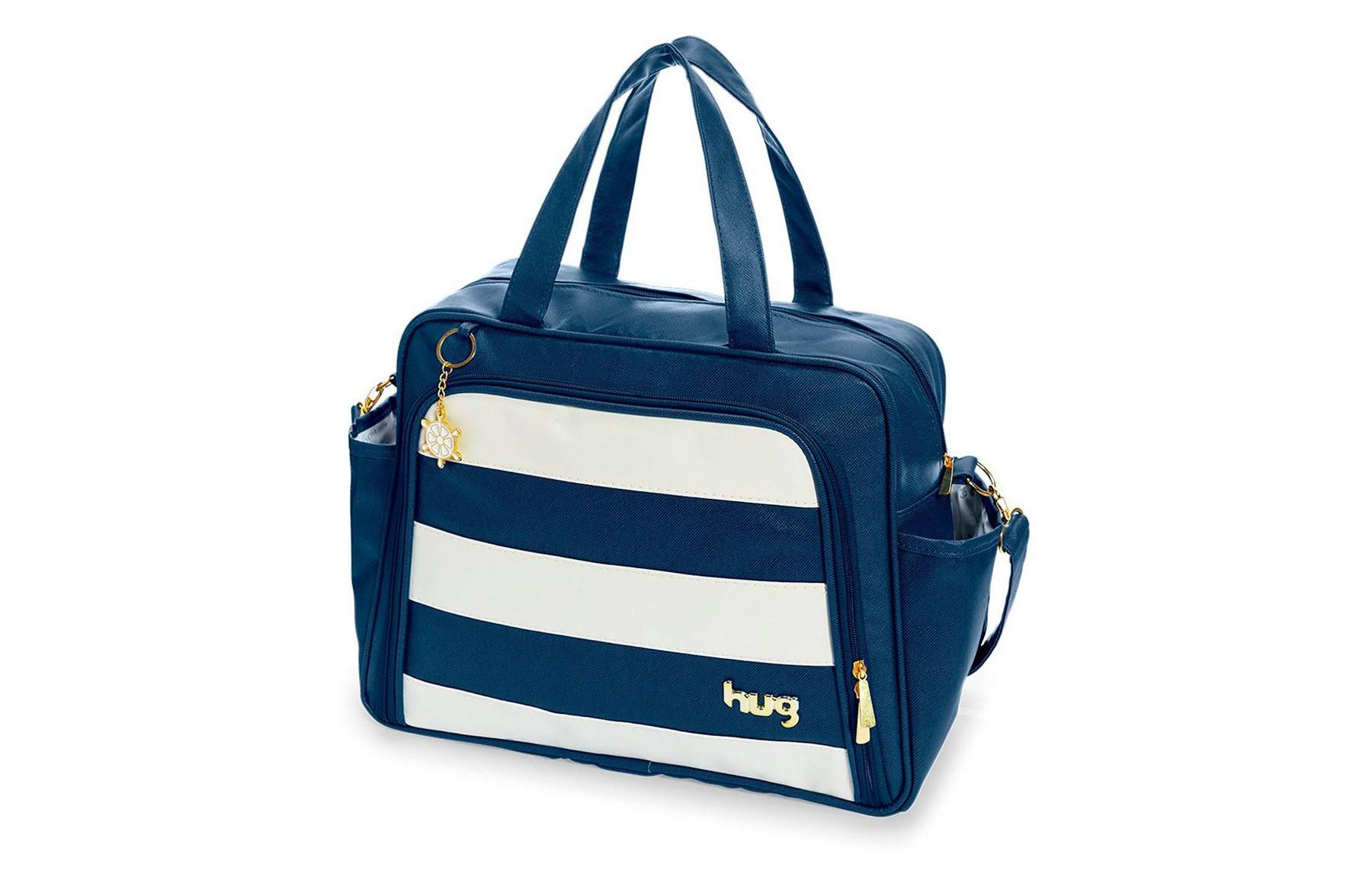 Kit de bolsas 2 peças linha Veneza cor azul marinho