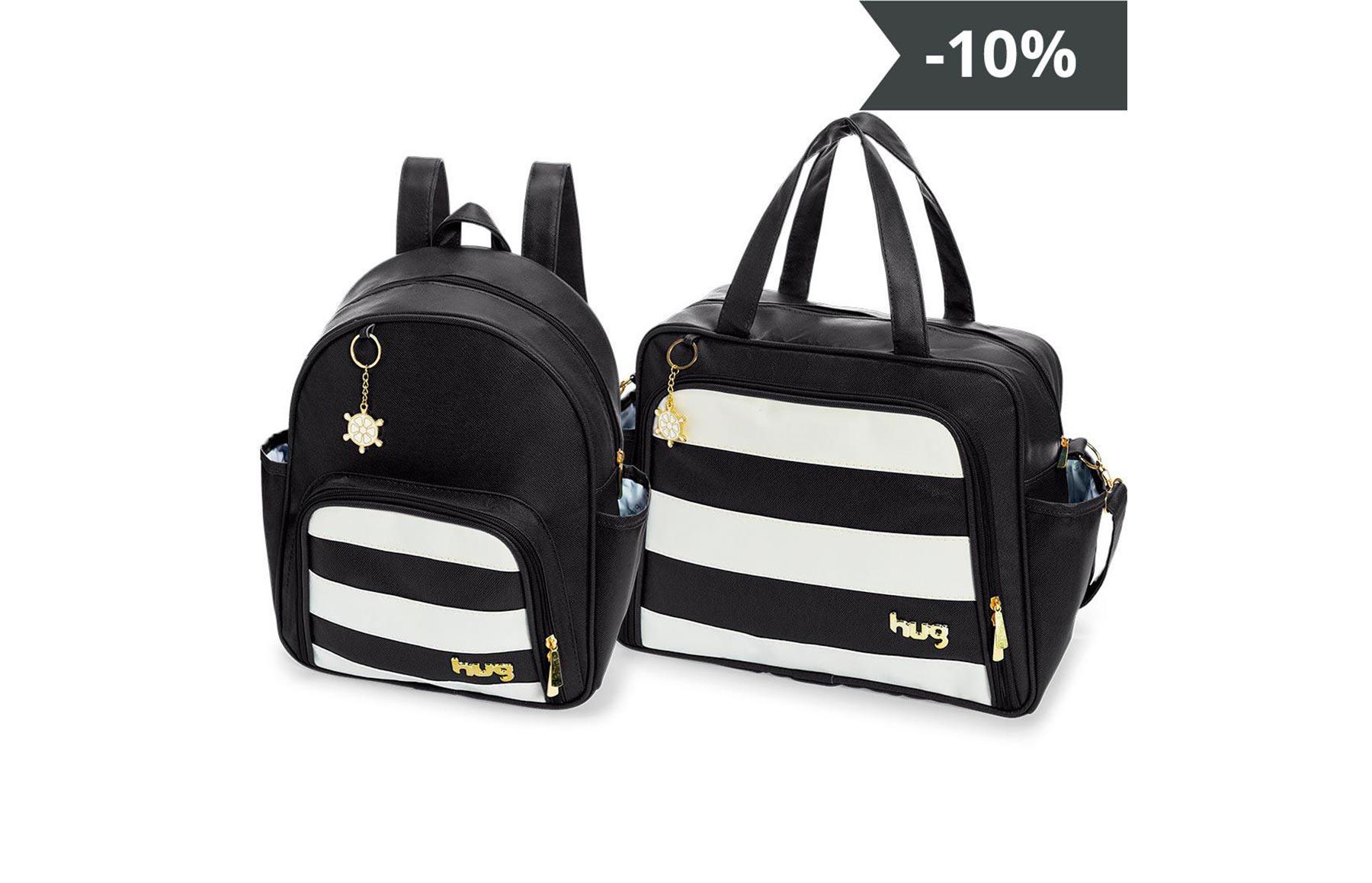 Kit de bolsas 2 peças linha Veneza cor preta