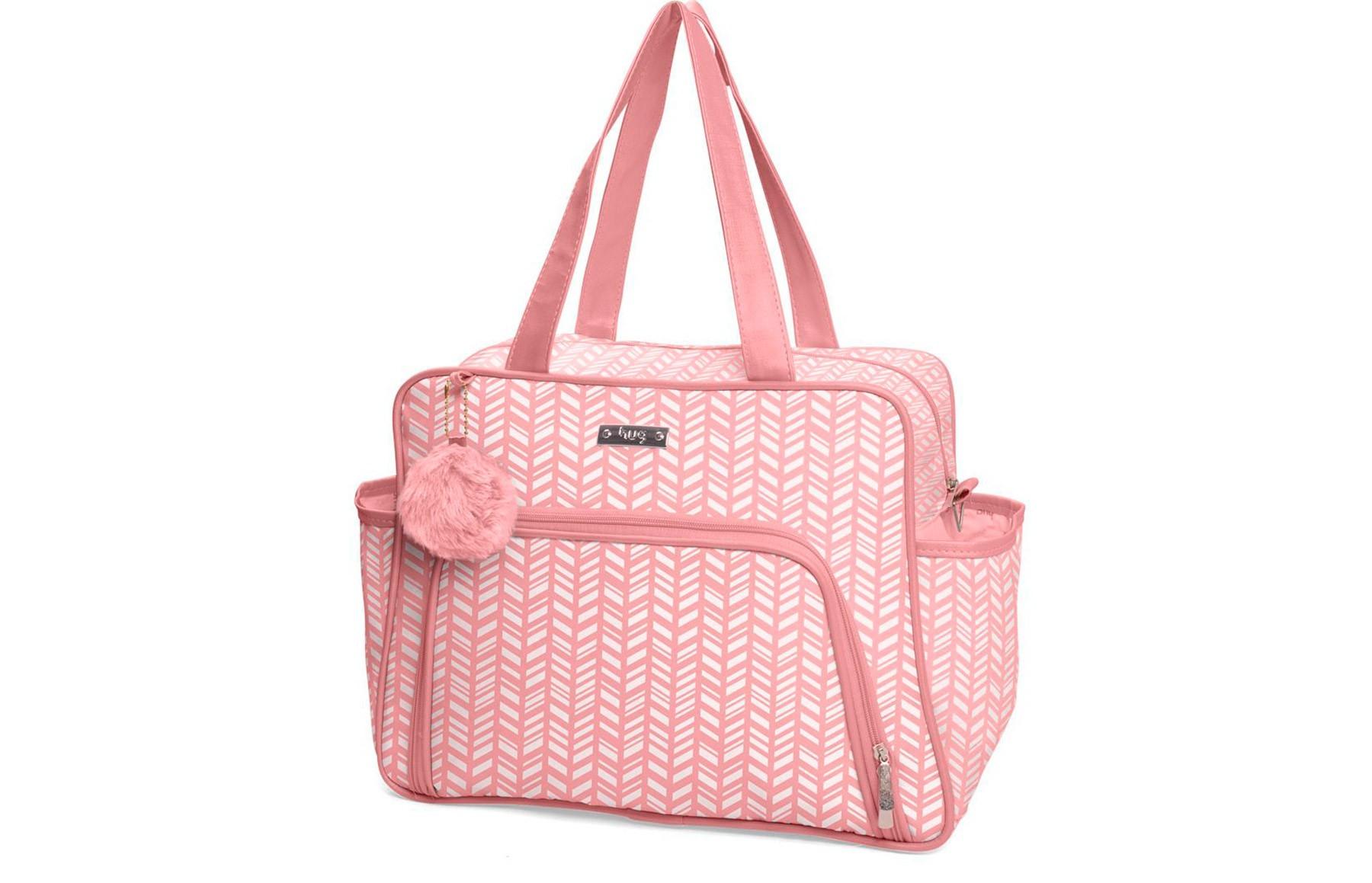 Kit de bolsas 3 peças linha Marrocos cor rosa