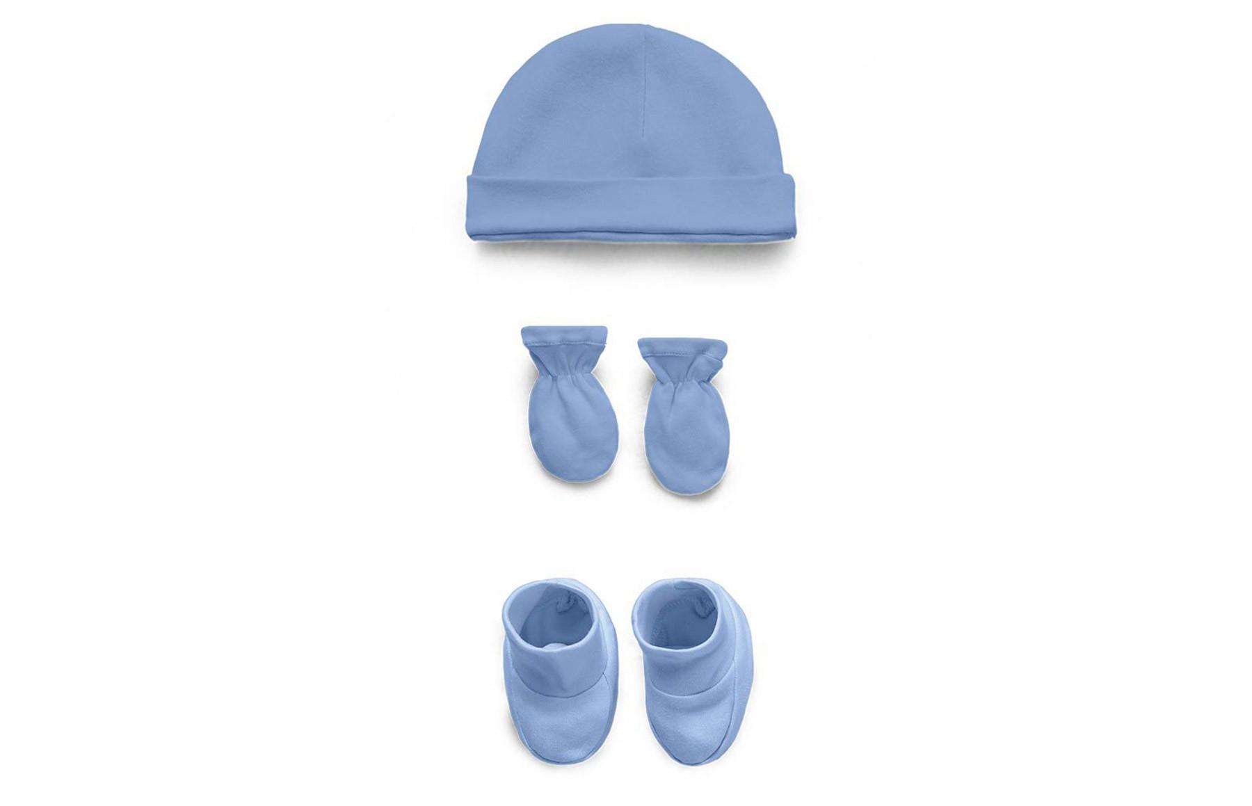 Kit Touca, Luva E Sapatinho Azul