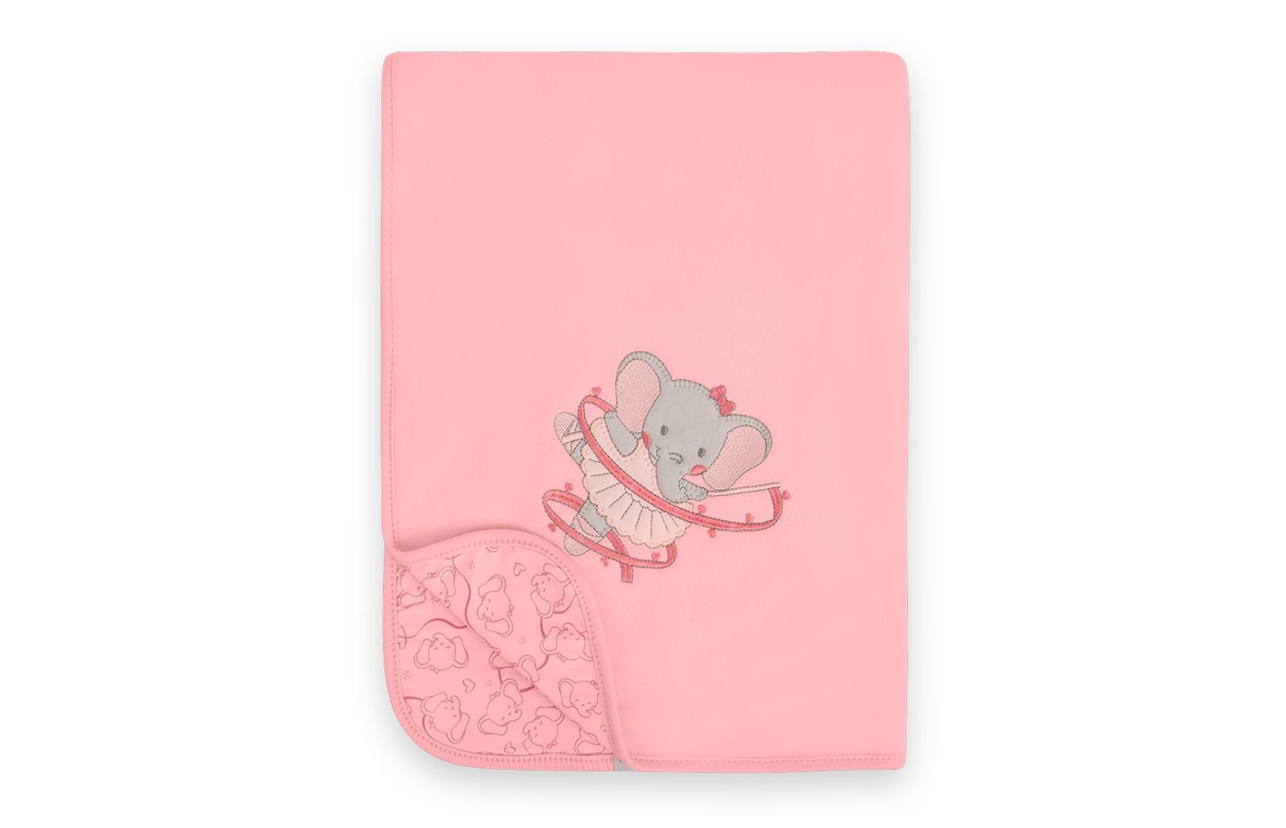 Manta de Soft - Linha Elefante Bailarina Hug