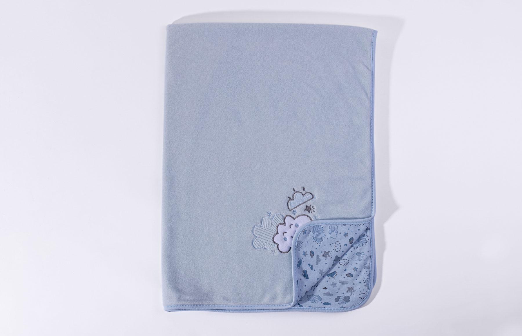 Manta De Soft Nevoa Azul
