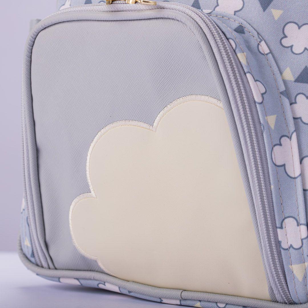 Mochila maternidade Hug linha Nuvens Cinza