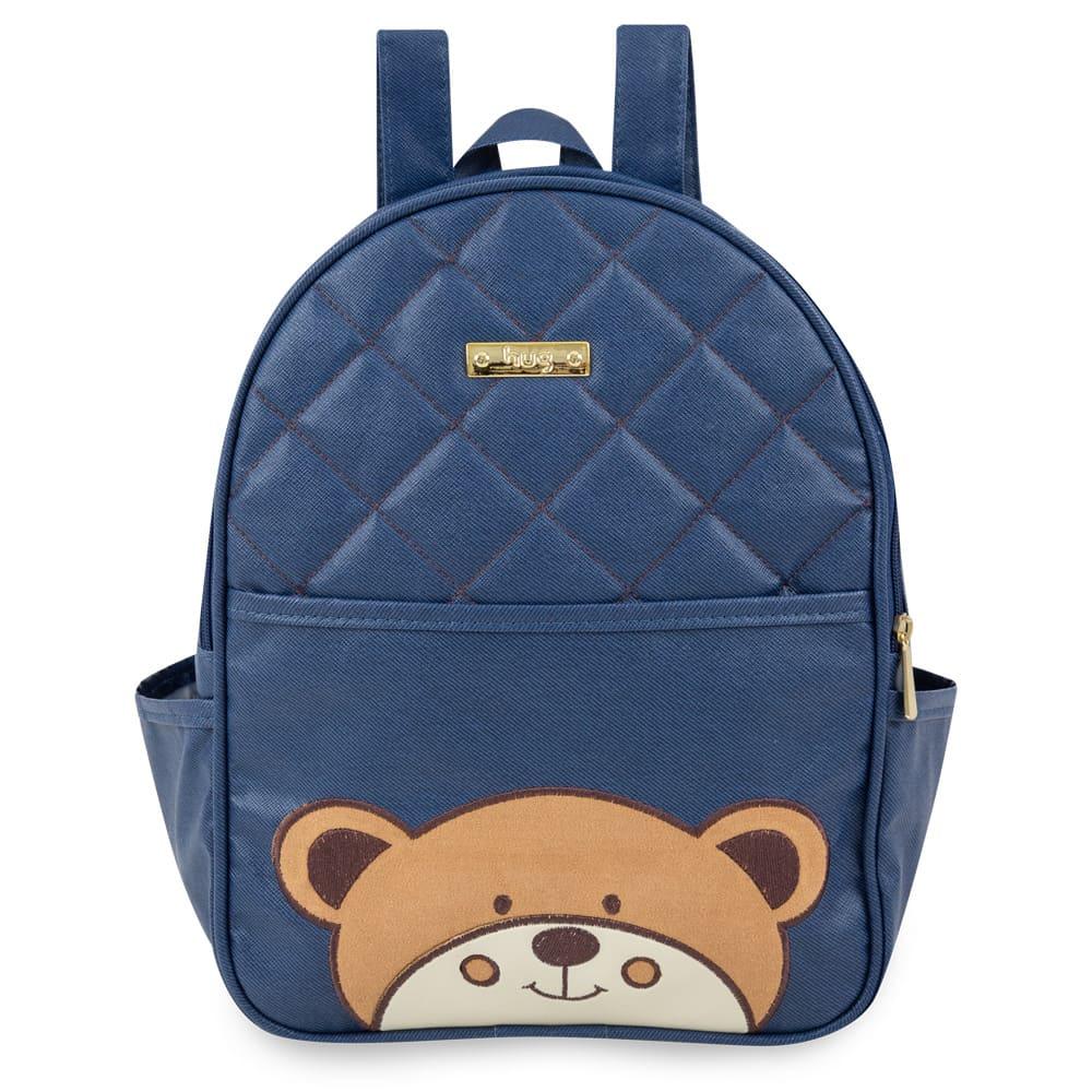 Mochila Maternidade Urso Azul Marinho - Hug
