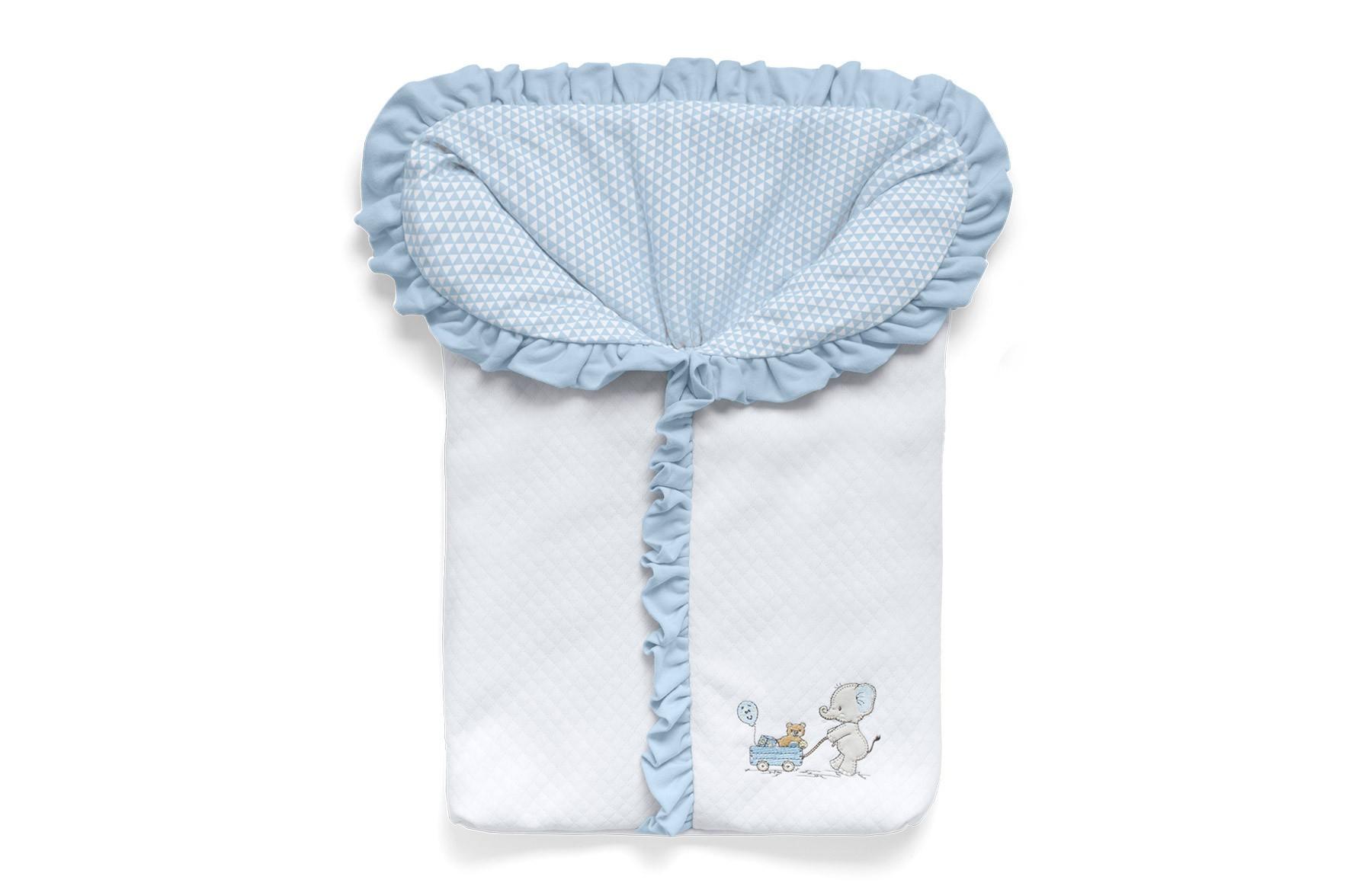 Porta Bebê Lembranças De Infância Azul