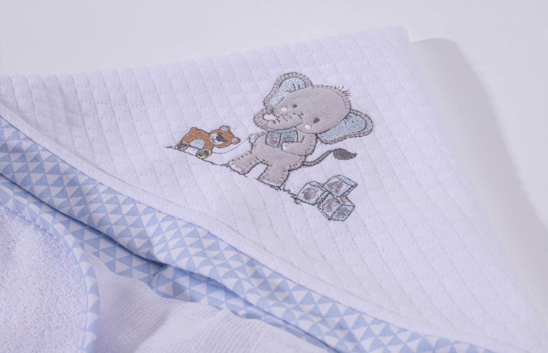 Toalha De Banho Lembranças De Infância Azul