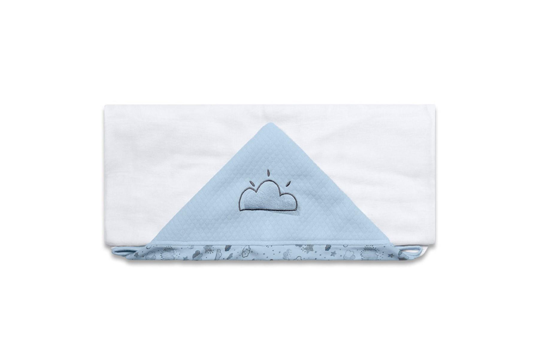 Toalha De Banho Névoa Azul
