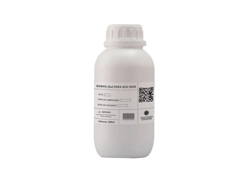Kit Soluções Banho de Ouro p/ Aço Inox 500ml