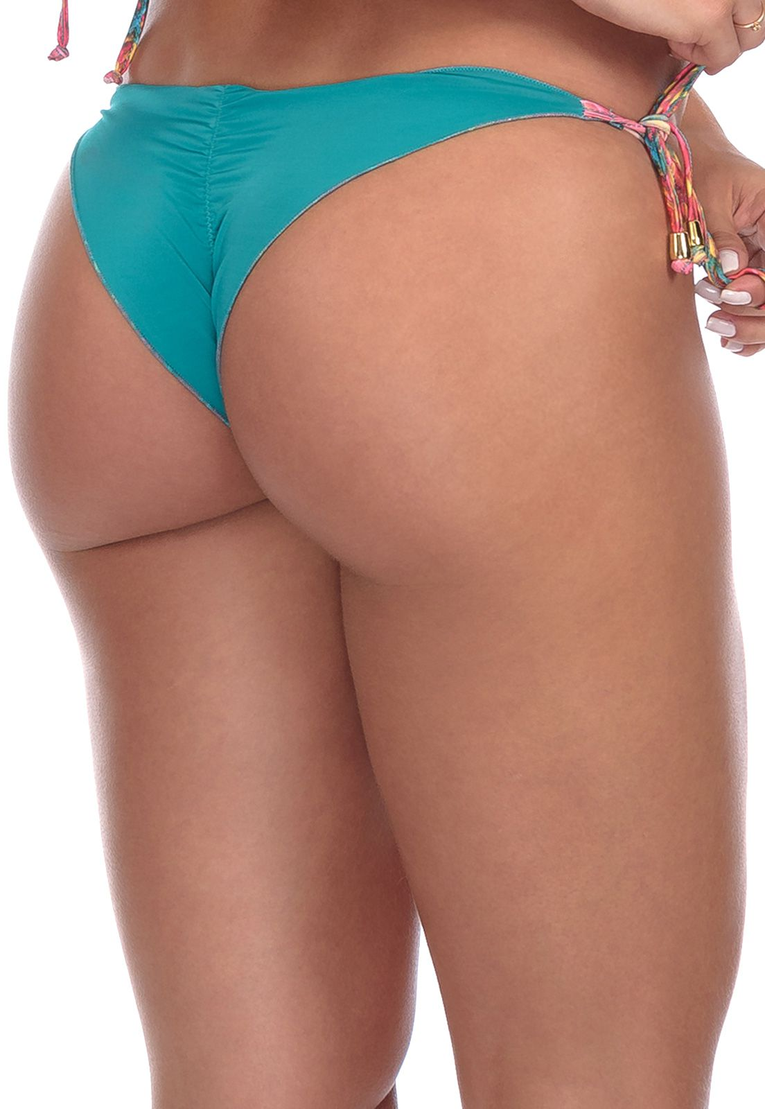Biquíni Bottom Ripple Lacinho Flavia Donadio Beachwear Cartagena Dupla face