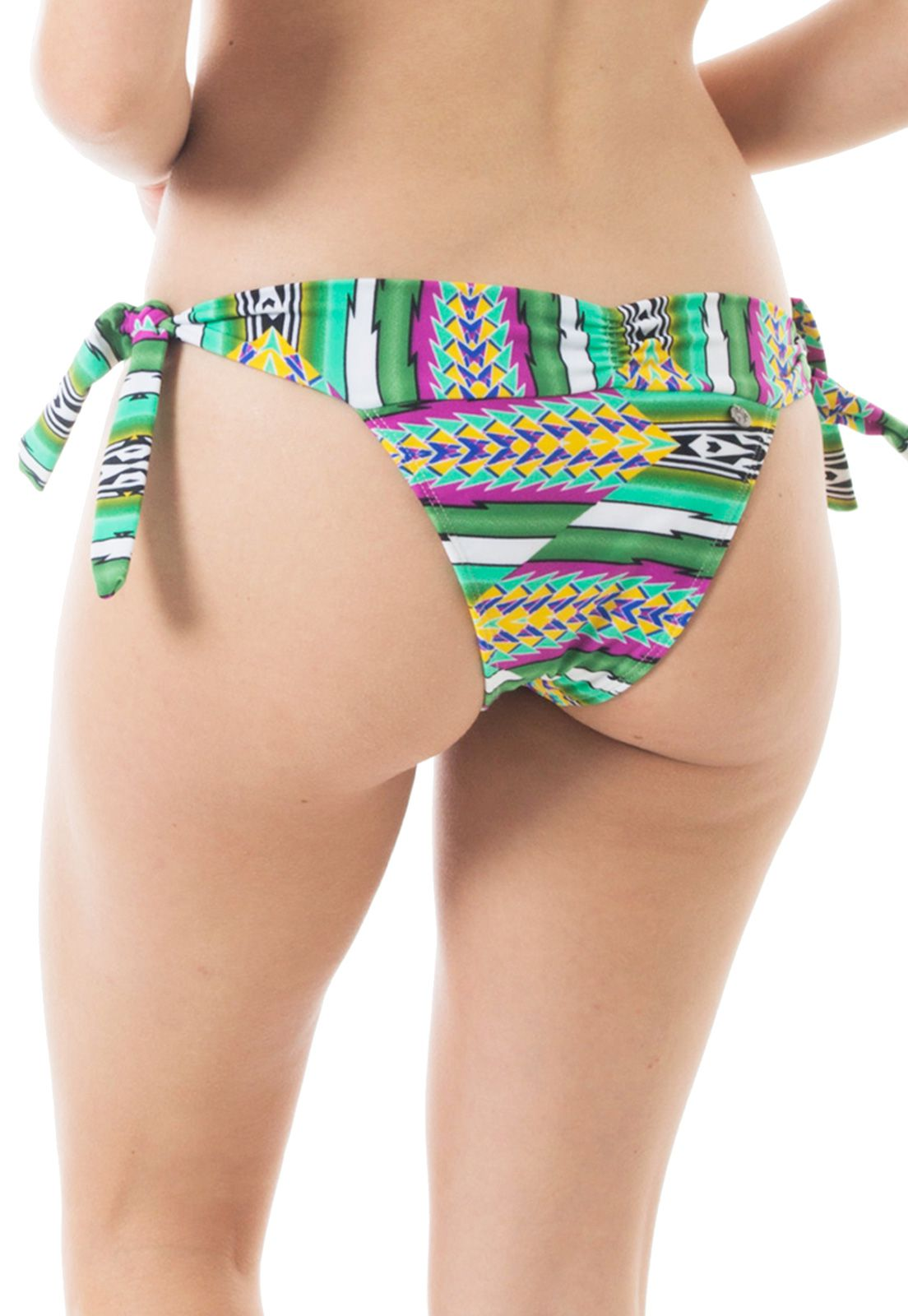 Biquíni Bottom Lacinho Flavia Donadio Beachwear Laguna-1 Estampado Verde