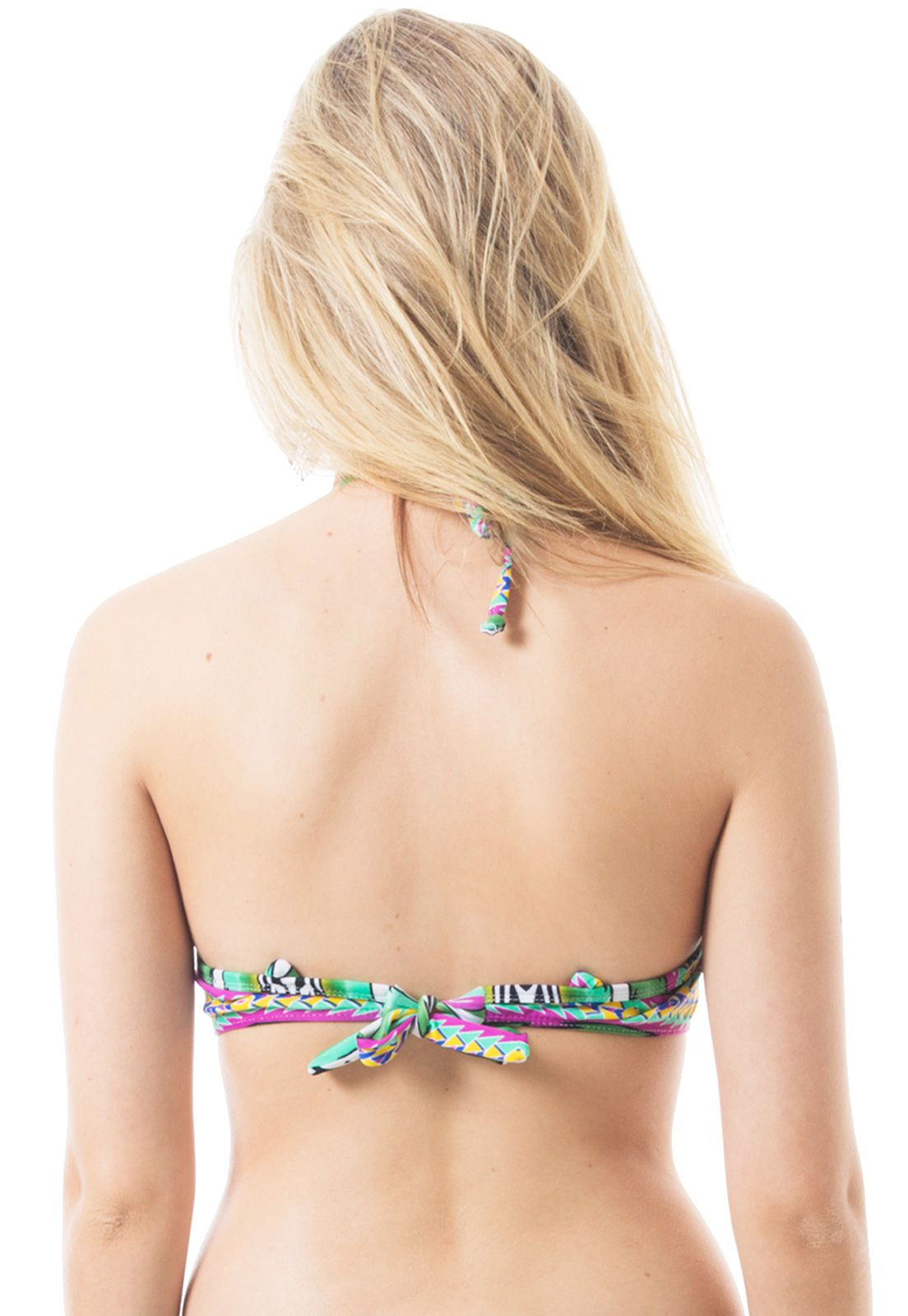 Biquíni Top Push-up Flavia Donadio Beachwear Laguna-2 Estampado Verde