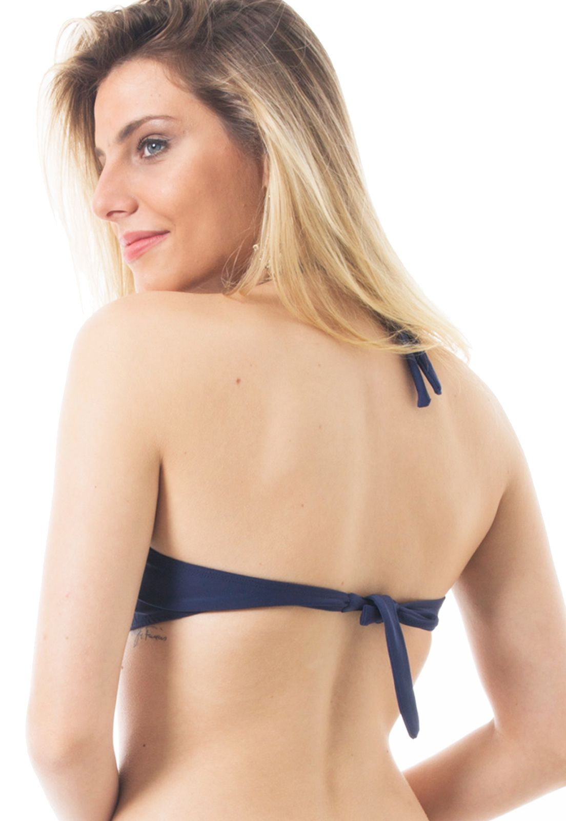 Biquíni Top Push-up Flavia Donadio Beachwear Navagio-1 Azul Marinho