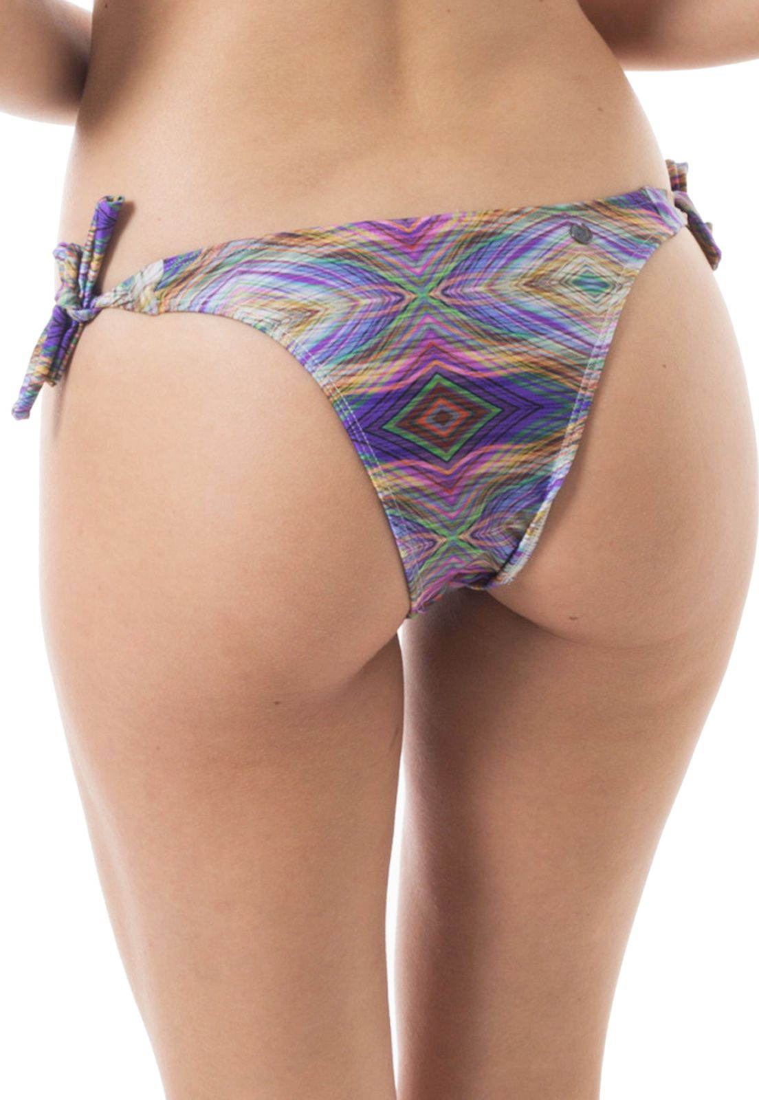 Biquíni Bottom Lacinho Flavia Donadio Beachwear Sunset-1 Estampado Lilás