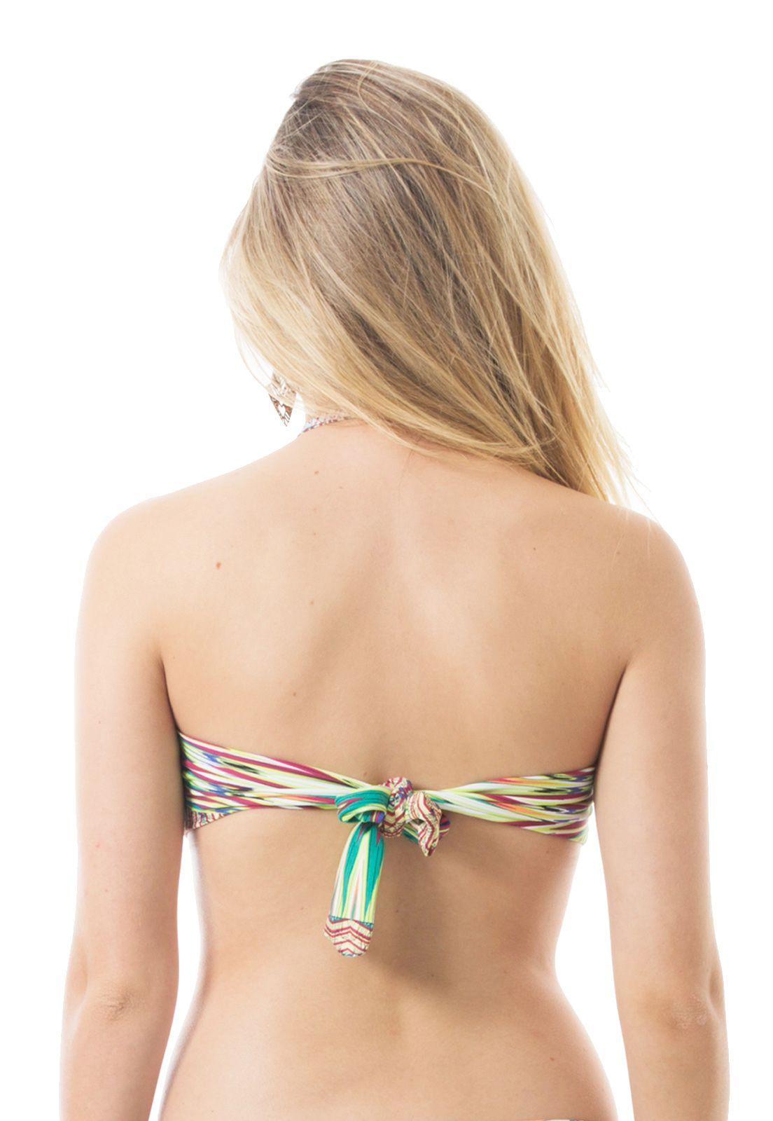 Biquíni Top Bandeau Flavia Donadio Beachwear Tahiti-1 Multicolorido