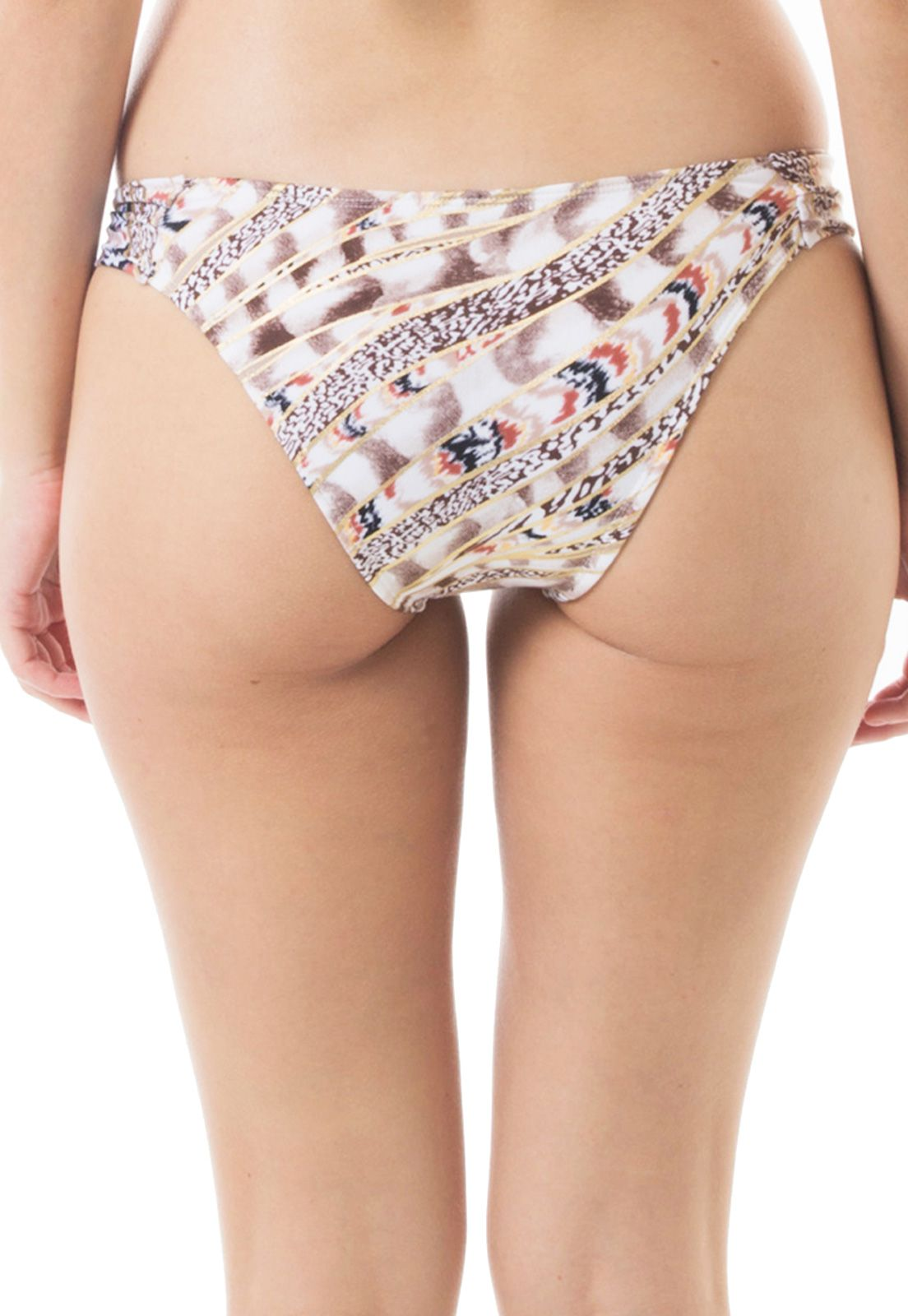 Biquíni Bottom Inteira Larga Flavia Donadio Beachwear Venice-1 Estampada