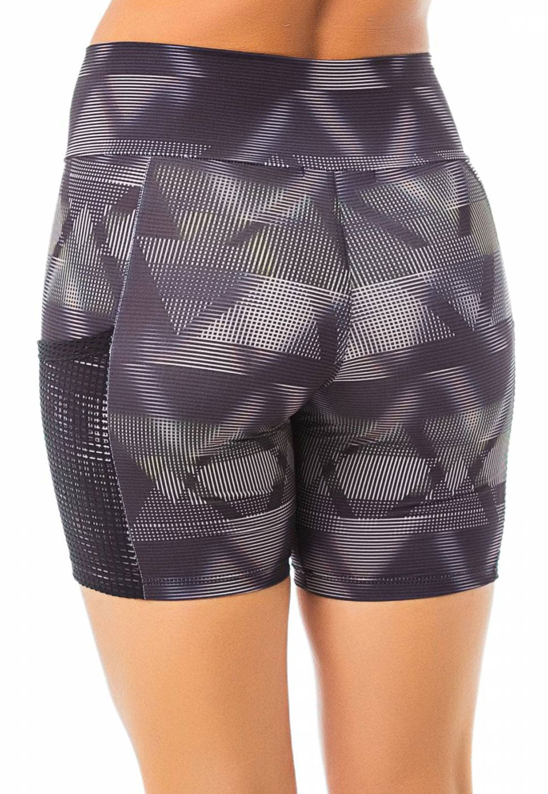 Shorts Fitness Flavia Donadio Beachwear Laguna Preto