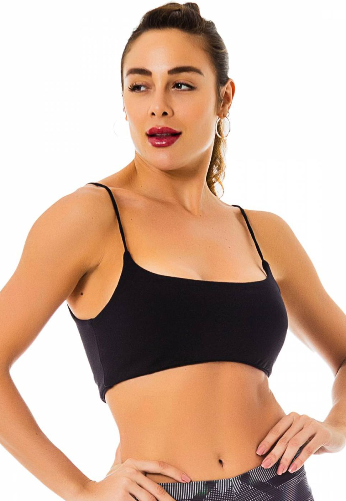 Top Fitness Flavia Donadio Beachwear Taormina Preto