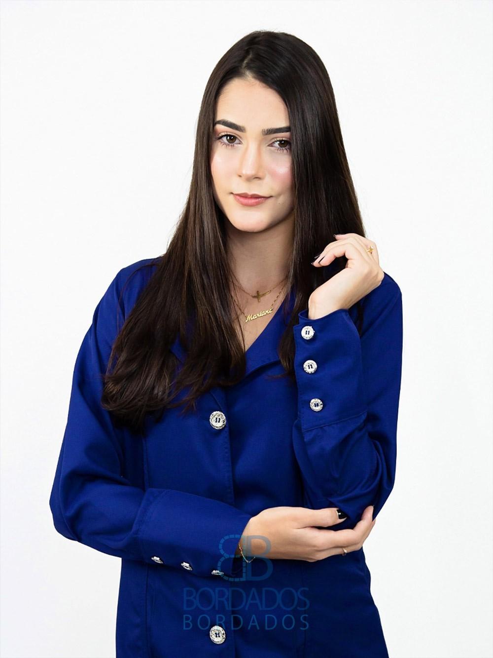 Jaleco Emily - Azul Marinho