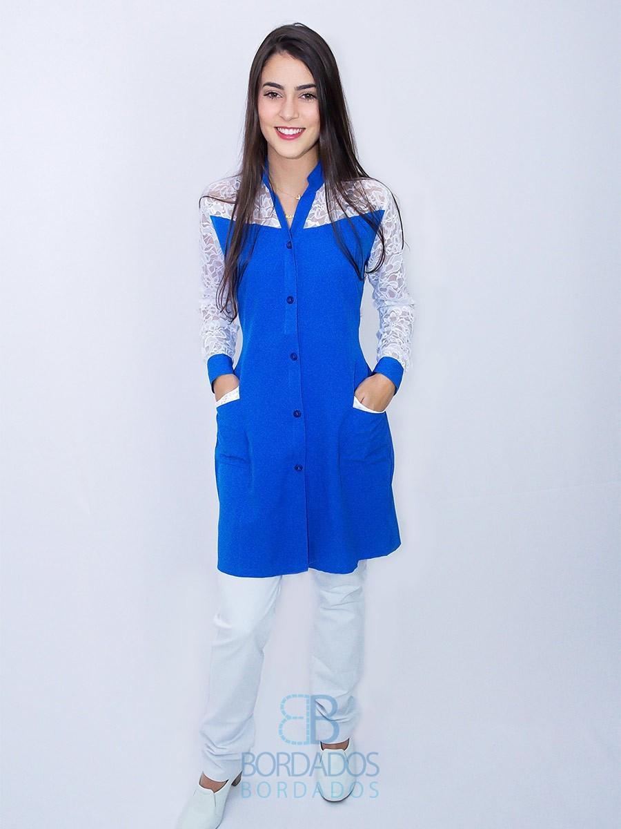 Jaleco Rita - Azul Royal