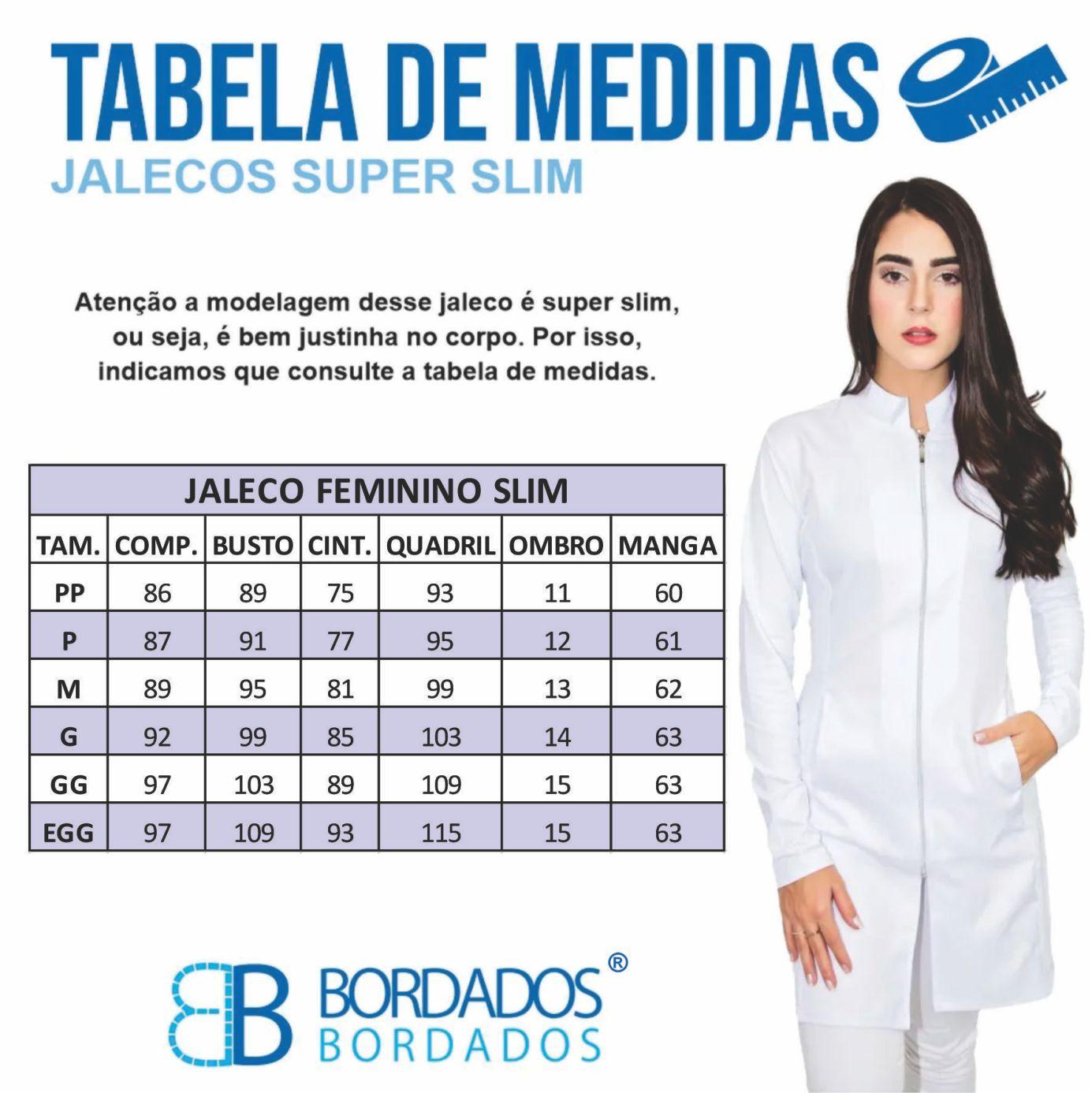 Jaleco Bia Slim - Preto