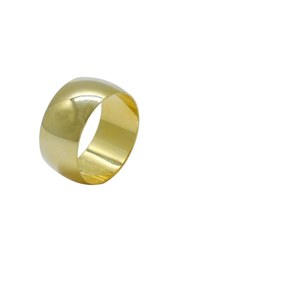 Aliança ouro 18k abaulada lisa 10,0mm