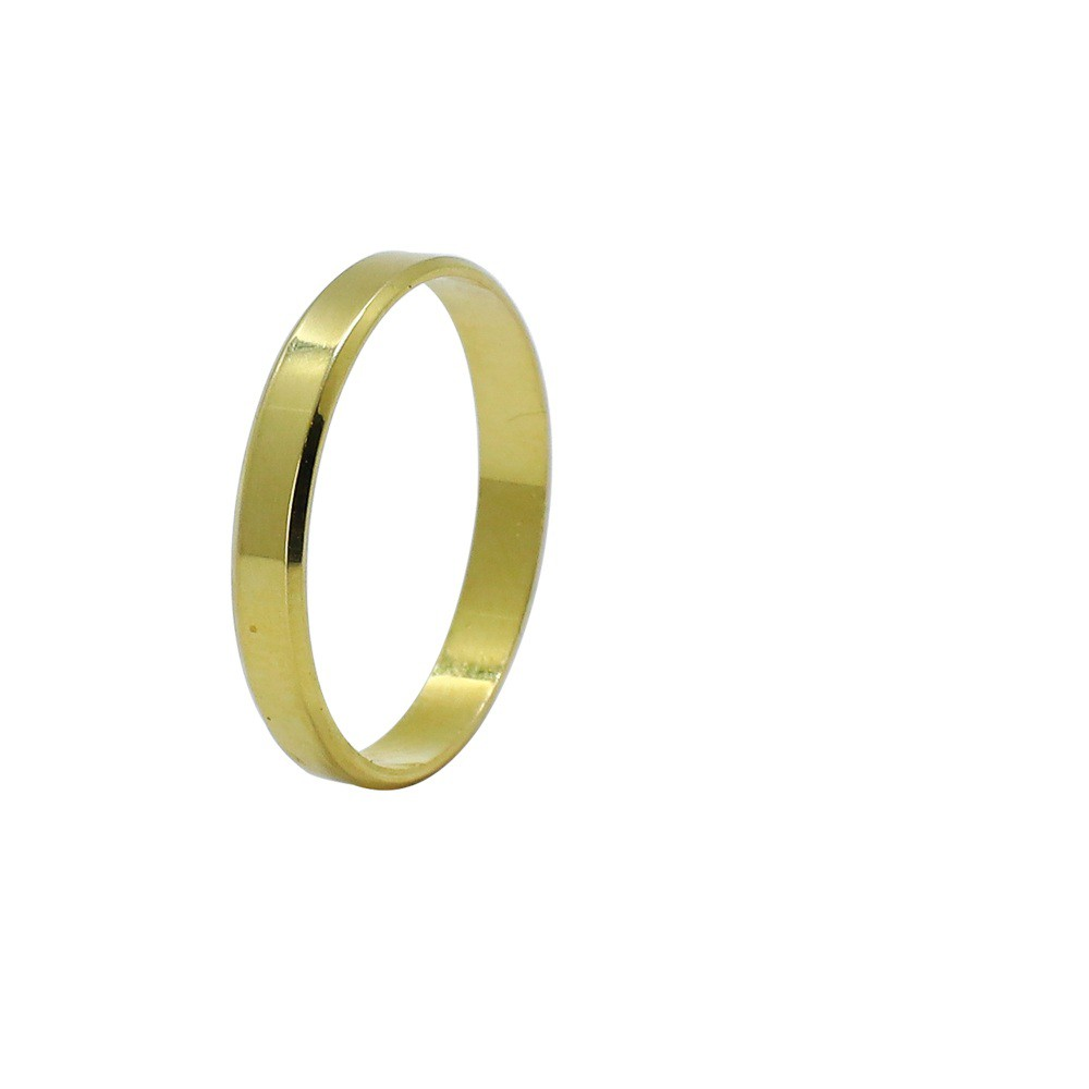 Aliança ouro 18k reta lisa 3,0mm