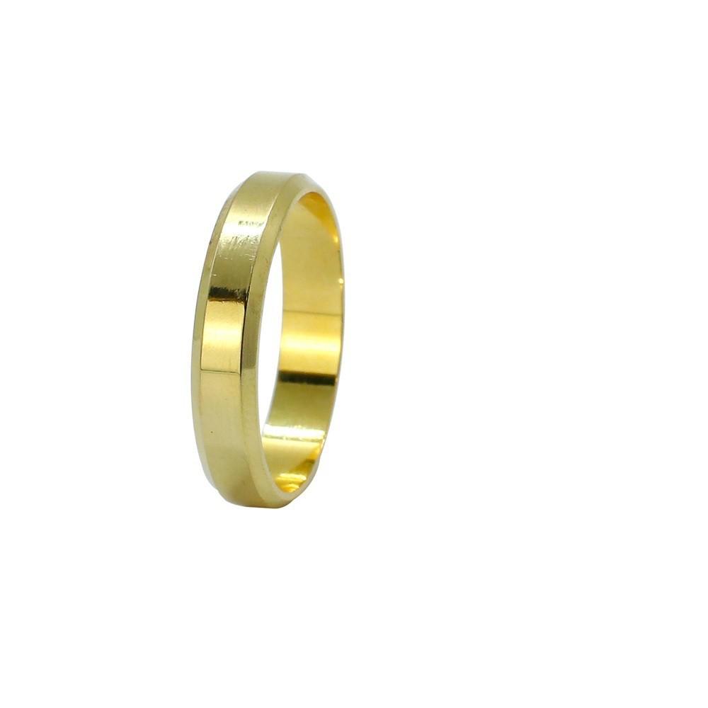 Aliança ouro 18k reta lisa 4,0mm