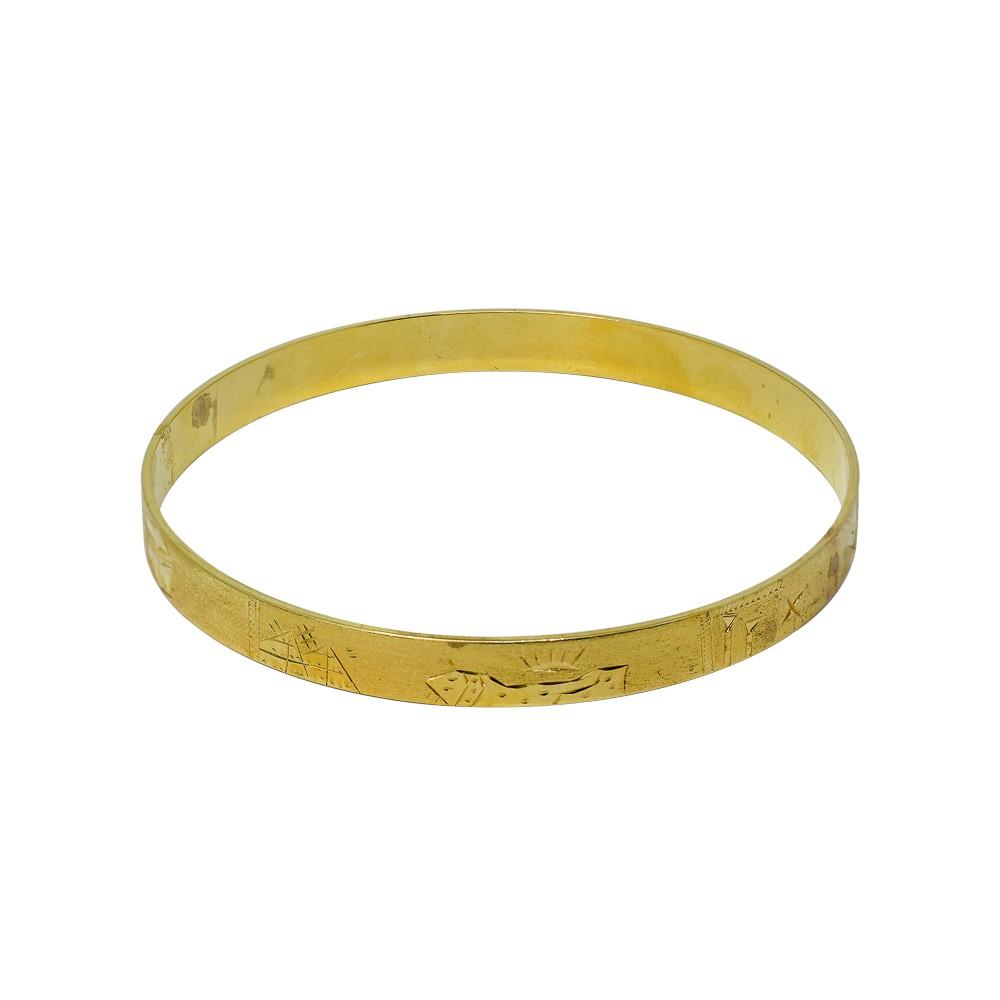 Bracelete folheado 18k escrava