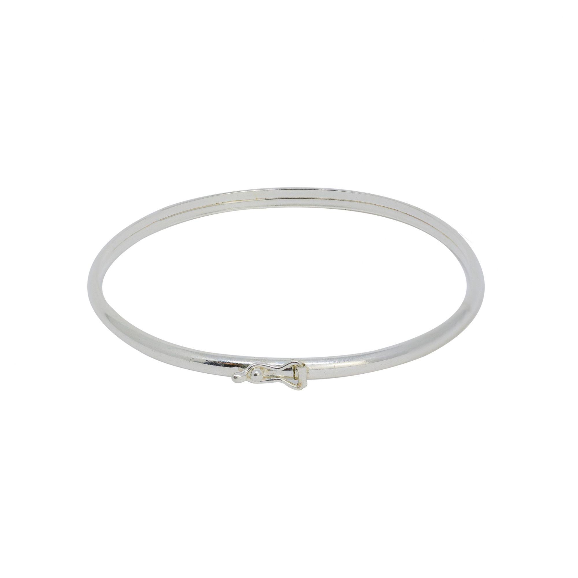 Bracelete prata 925 oco fio abaulado 2,9mm
