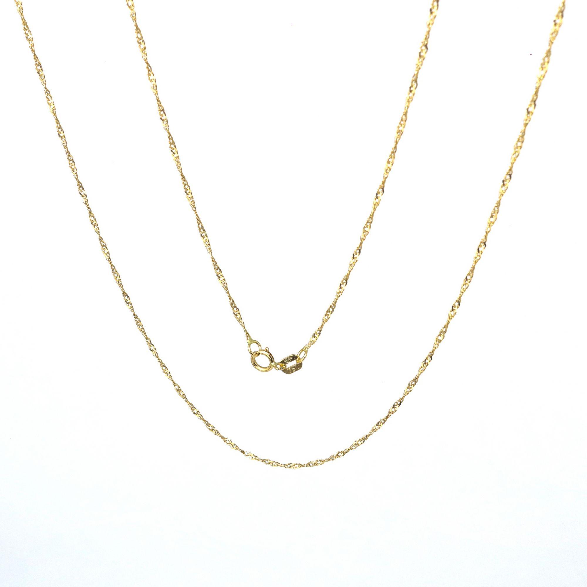 Corrente ouro 18k singapura 45 cm