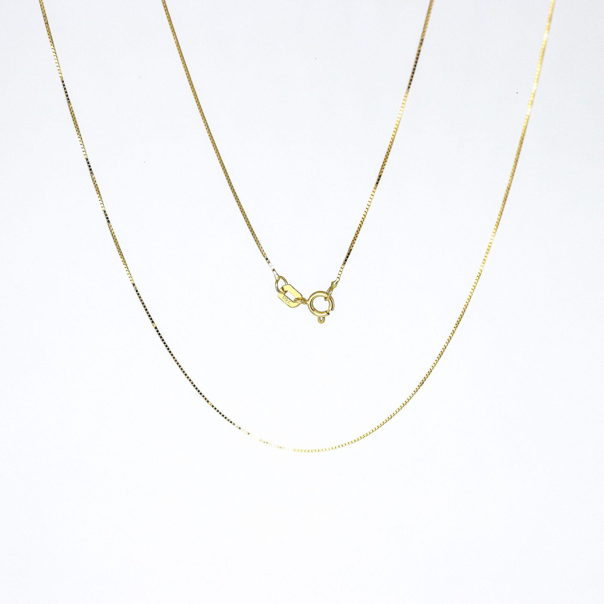 Corrente ouro 18k veneziana 45 cm