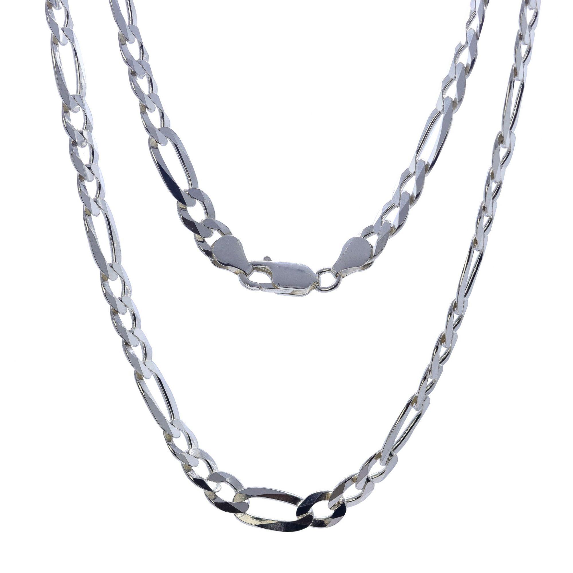 Corrente prata 925 3 por 1 laminada