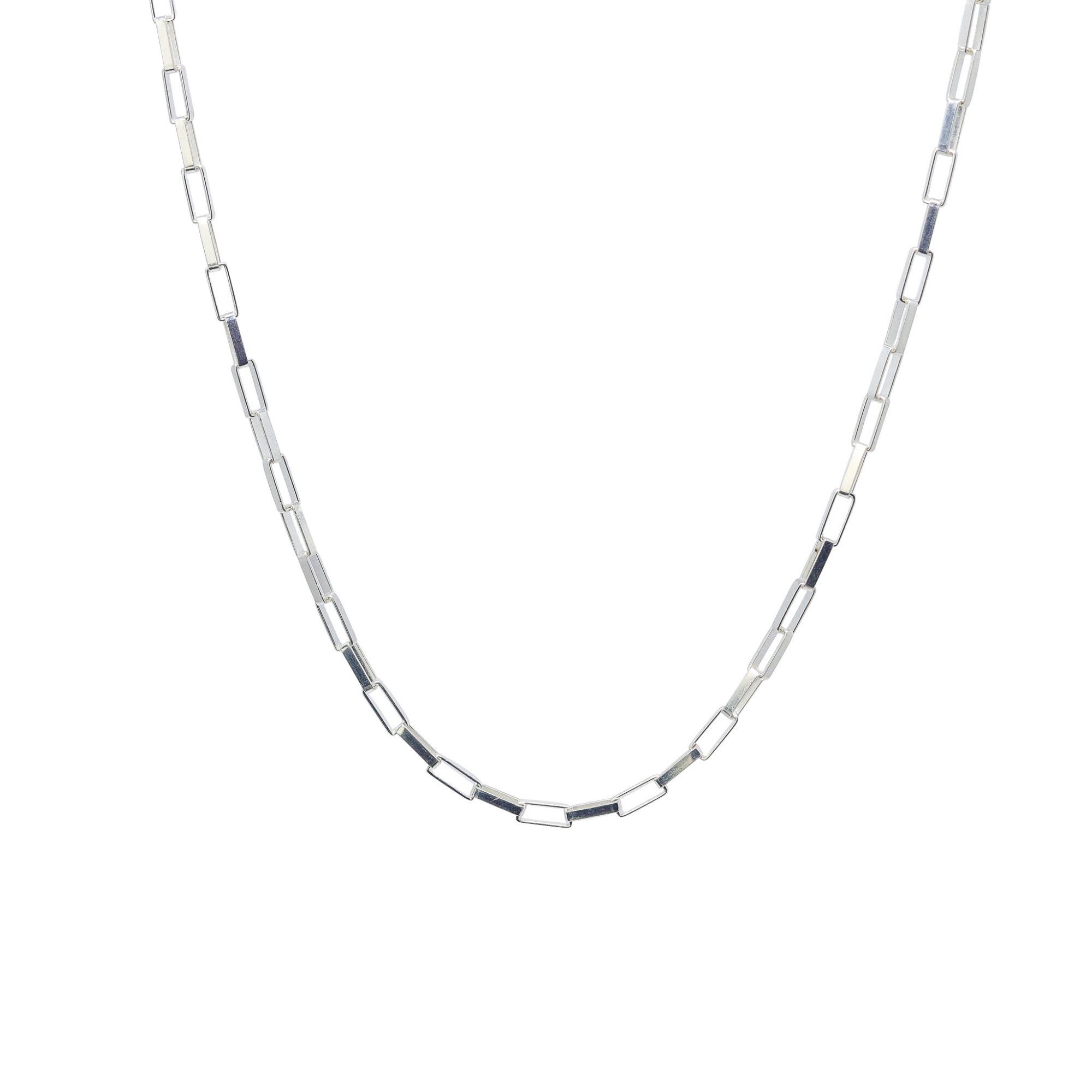 Corrente prata 925 veneziana alongada