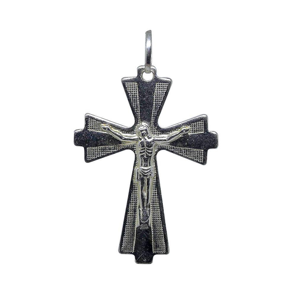 Pingente prata 925 crucifixo trabalhado