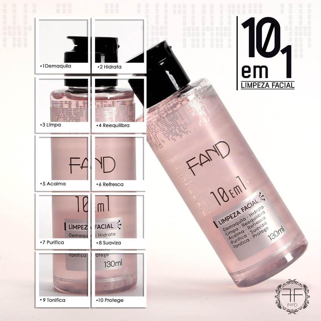 Água de Limpeza Facial 10 EM 1 Fand Makeup 130ml
