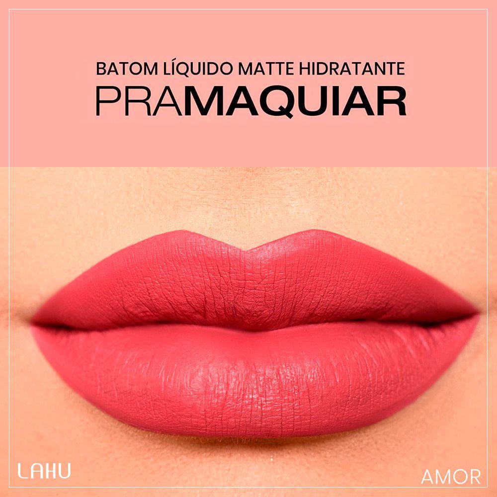 Batom Liquido Matte Hidratante Pramaquiar - Cor Amor 4102
