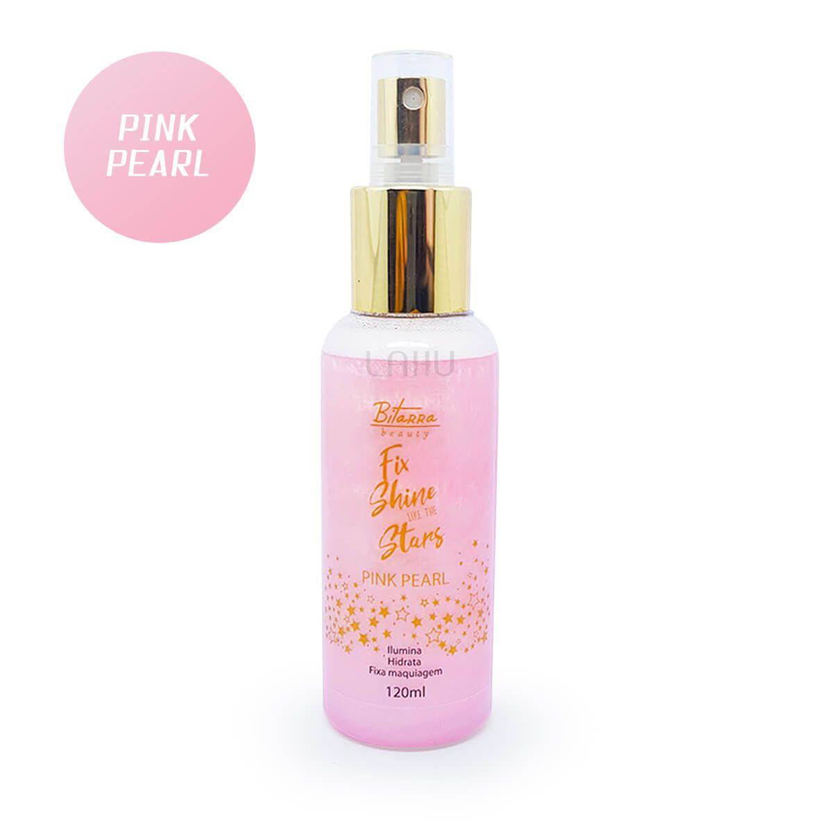 Bruma Fix Shine Bitarra Pink Pearl - Ilumina Hidrata Fixa