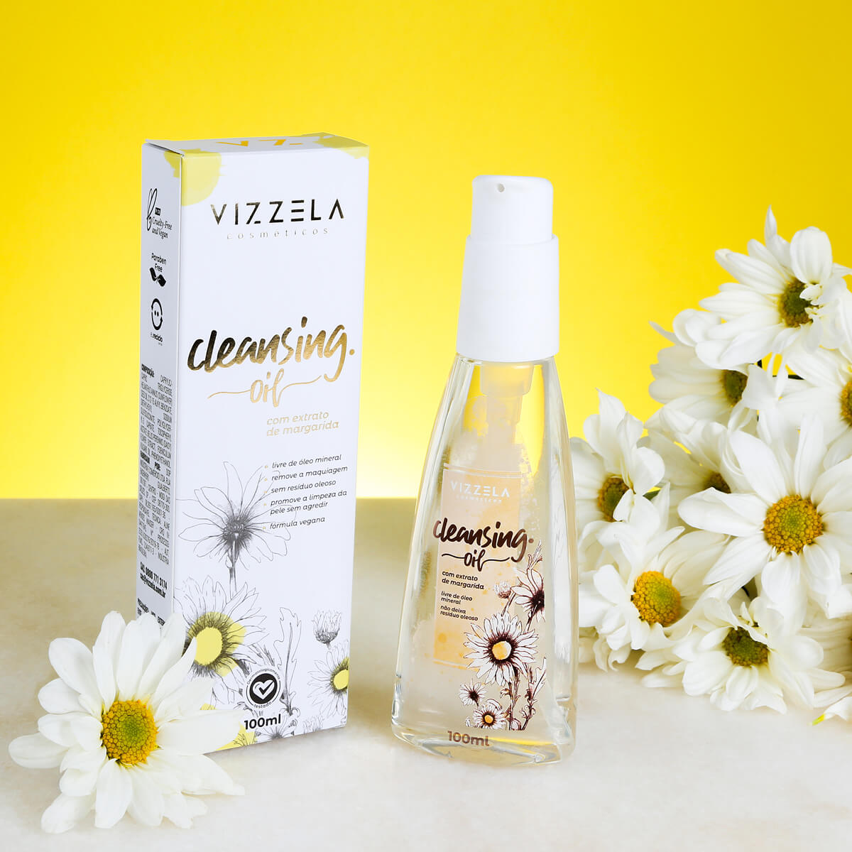 Cleansing Oil Vegano Vizzela Removedor de Maquiagem