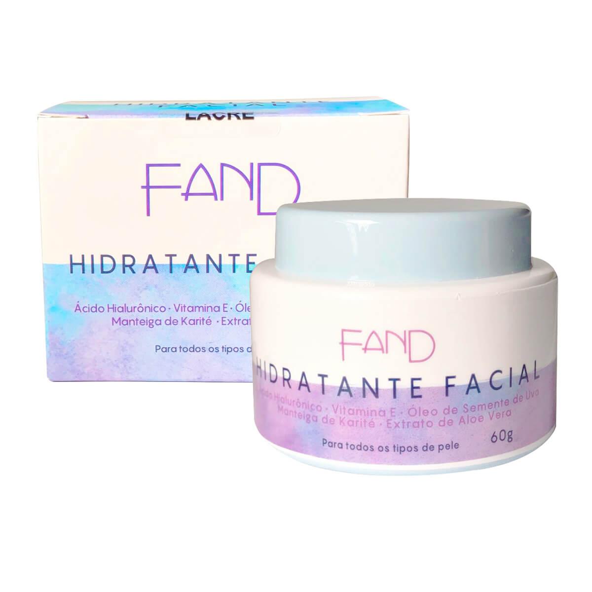 Creme Hidratante Facial Fand Makeup 60g - Todos os tipos de Pele