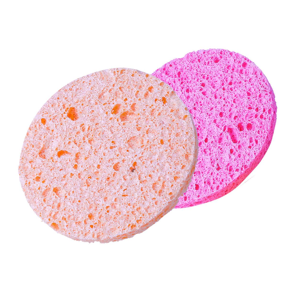 Esponja Esfoliante Redonda Para Limpeza Facial R813 Sffumato Beauty