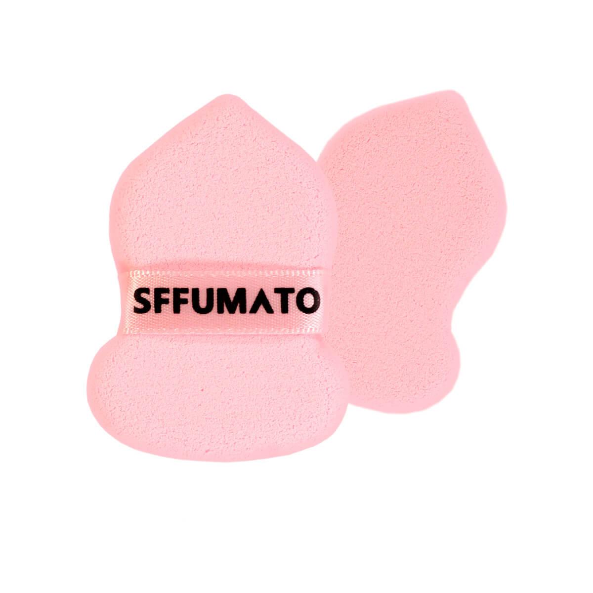 Esponja Puff Pequena Formato Gota Com Alça R804 Sffumato Beauty