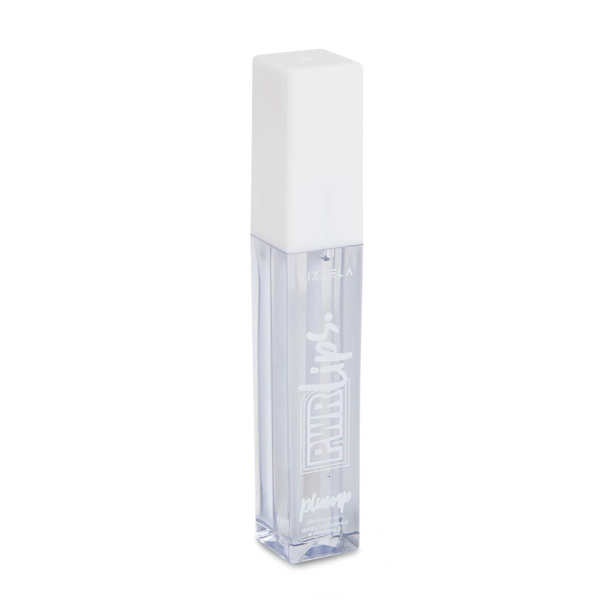 Gloss Power Lips Vizzela Cor Incolor - Top Coat Efeito Plump