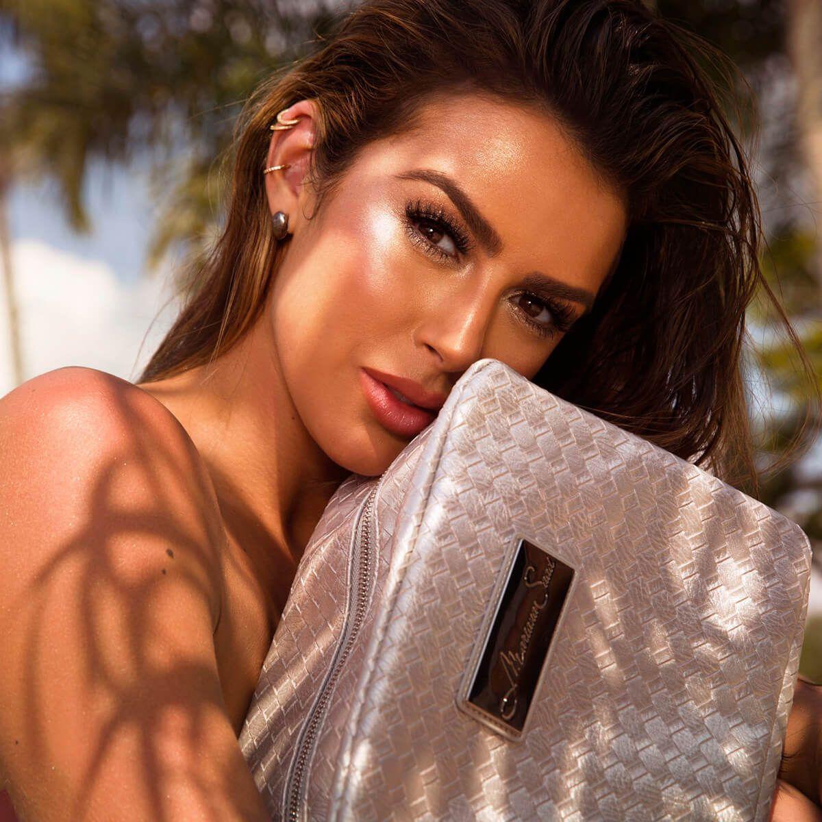Necessaire Mariana Saad Prata Porta Maquiagem