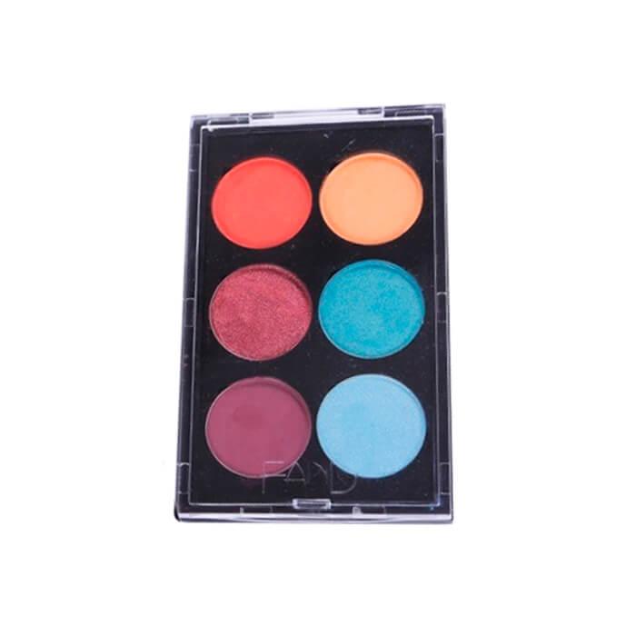 Paleta de Sombra Colorida 6 cores GLAMOUR Fand Makeup