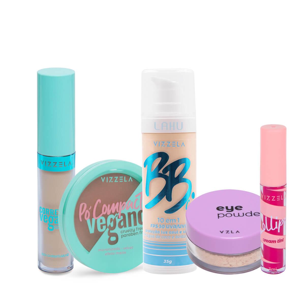 Pele Perfeita Kit de Maquiagem para o dia a dia Vizzela