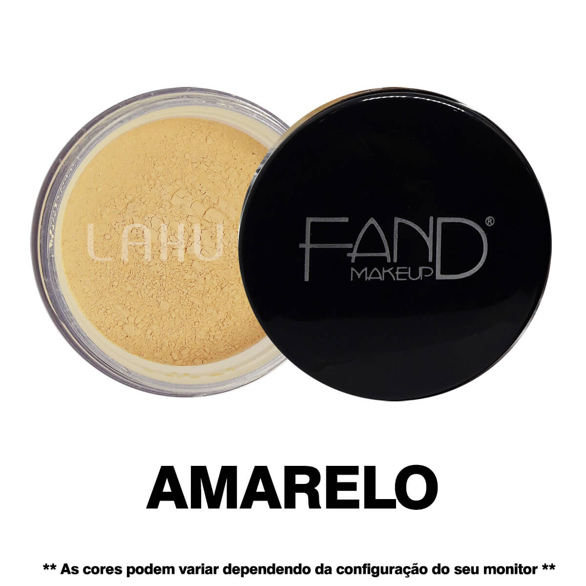 Pó Facial Solto Amarelo 01 Fand Makeup